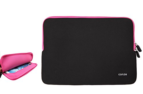 Conze Water-Resistant Neoprene Carrying Sleeve Case Compatible with Maxwest TAB 7360 / Nitro Phablet 71 in Pink