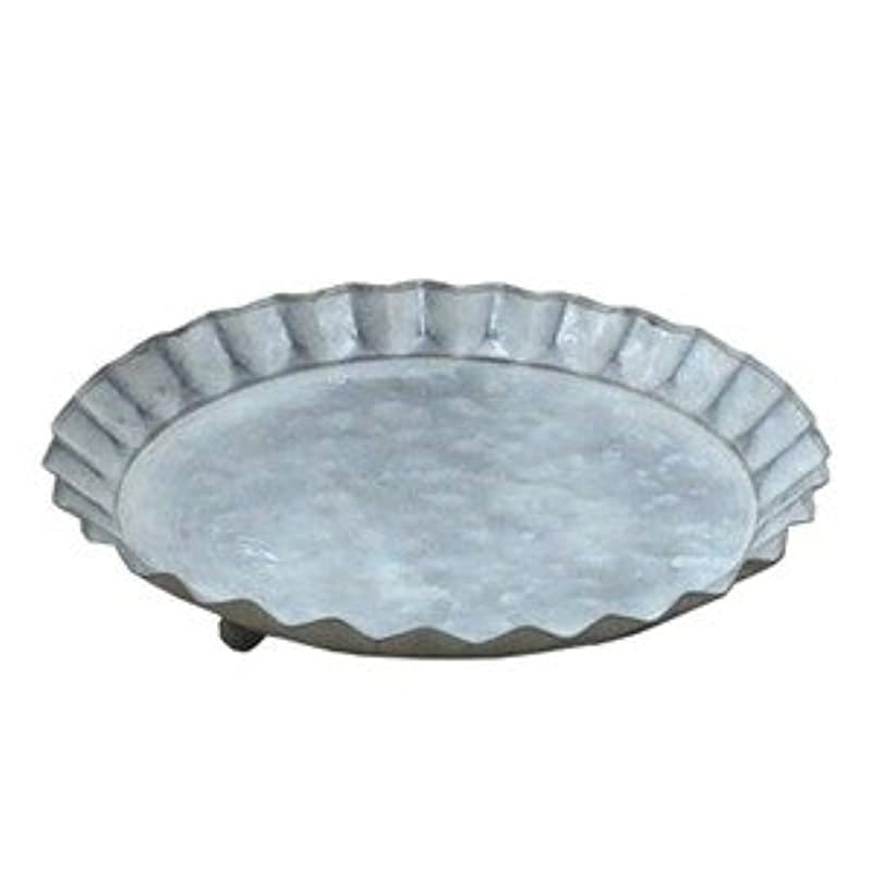 教育学カポック考古学者ブリキ製受皿 ウーノ キャンディーソーサーBW 14.5cm 4個入り [簡易パッケージ品]
