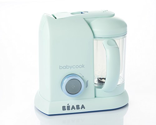 BEABA Babycook Macaron 4 in 1 Steam Cooker and Blender, 4.5 Cups, Dishwasher Safe, Blueberry