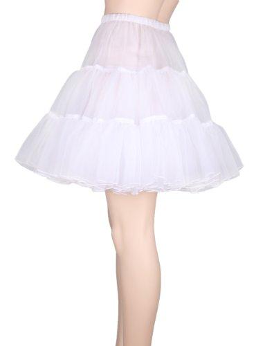 Flora 50s Rock n Roll Hoopless Short Skirt/Fancy Tutu Petticoat,18
