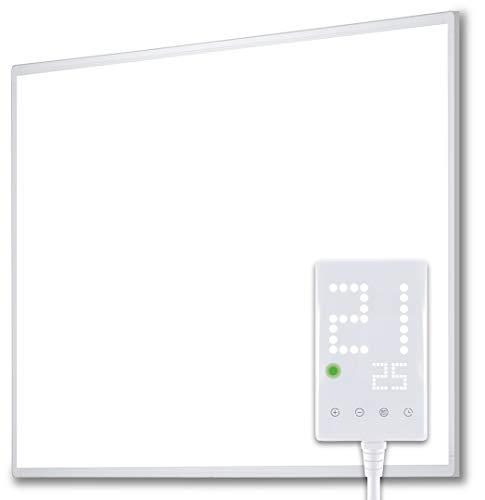 Heidenfeld Infrarotheizung HF-HP100 300 Watt Weiß - inkl. Thermostat - 10 Jahre Garantie - Deutsche Qualitätsmarke - TÜV GS - Für 3-8 m² Räume (HF-HP100 300 Watt)