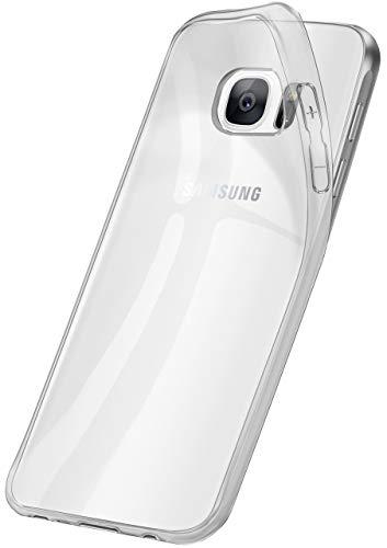 OneFlow Funda Fina, Ligera y Transparente de Silicona | Compatible con Samsung Galaxy S7 Edge, Ultra Transparent