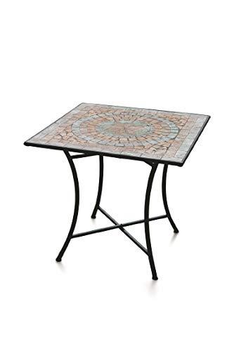 Galileo Casa Cipro Tavolo Quadrato Mosaico 83x83x75, Multicolor