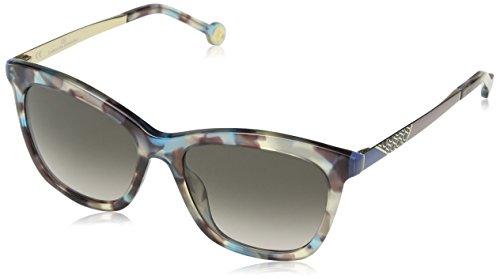 Carolina Herrera SHE746530AM5 Gafas, DARK BROWN/SHINY AZURE, 53/17/140 para Mujer