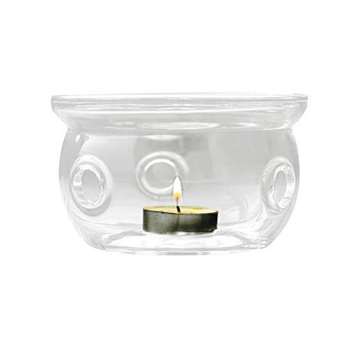Yissma theepot met stoofje theefilter set glas borosilicaat verdikt glas theelichtverwarming thee-licht heater