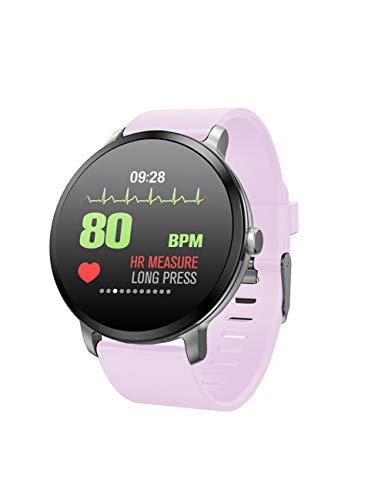 YJKLB Intelligente Uhr Smart Watch wasserdichte Bluetooth Herzfrequenz-Vibrationsarmband Sportmodus-Armbanduhr Smartwatch, Pink