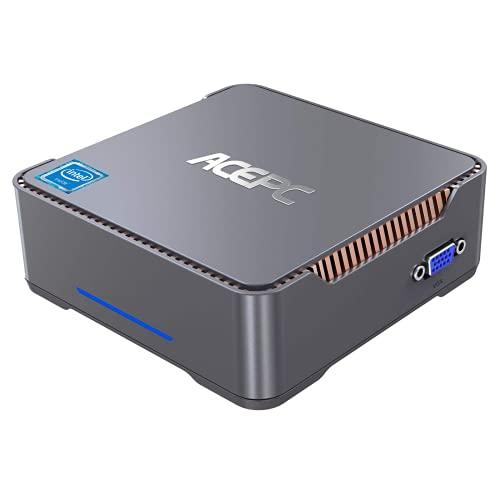 ACEPC Mini PC,6GB RAM+128GB ROM,Intel Celeron J4125,Windows 10 Pro(64-bit),Dual WiFi 2.4/5G, Bluetooth 4.2,4K HD,2 HDMI+1 VGA/USB3.0 Port,Mini Ordenador de sobremesa