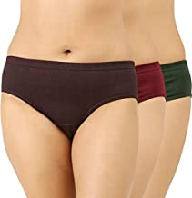 O' Womaniyah! Top Selling Cotton Women Underwear/Panties (Assorted Colours) (3, 80 cms (s))