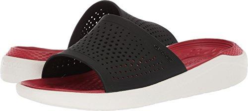 Crocs Men's and Women's LiteRide Slide Sandals | Comfortable Slip On Sandals - Black/White