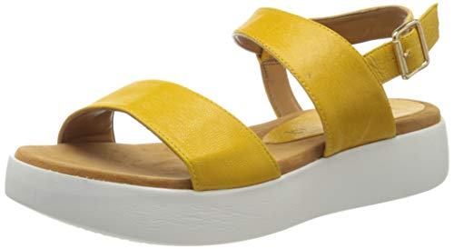 Unisa Women's Ankle Strap Sandals , Yellow Limone Limone , 9 US
