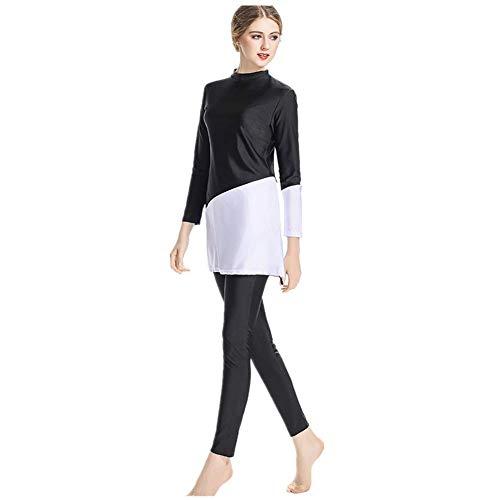 KXCFCYS Bescheidener Badeanzug, Hijab, volle Abdeckung, Badeanzug, Strandmode, Badeanzug, Bikini - - 4X-Large