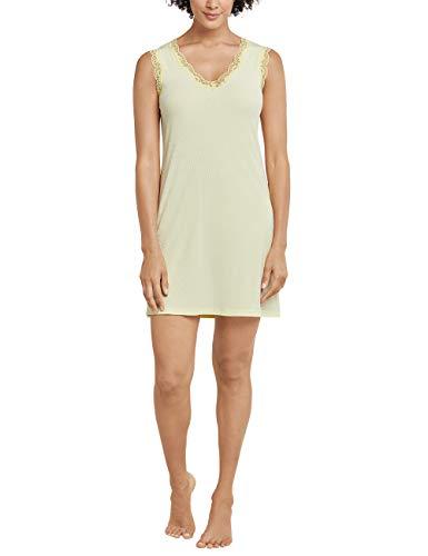 Schiesser Damen Sleepshirt 0/0 Arm, 90Cm Nachthemd, Gelb (gelb 600), 42 (Herstellergröße:042)