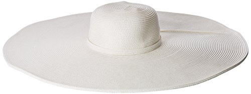 San Diego Hat Company Women's Ultrabraid Extra Large Brim Floppy Hat with SPF Protection, White, One Size