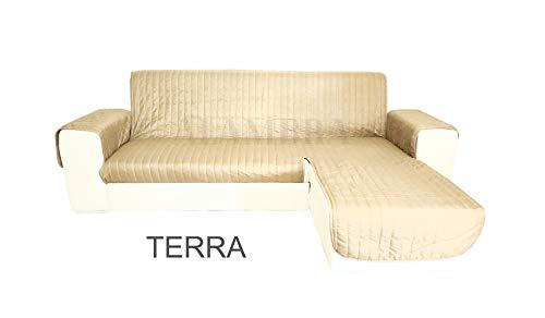 Funda de sofá península, Color Liso, 200 cm, 250 cm, 300 cm, Universal, Asiento a la Derecha y a la Izquierda