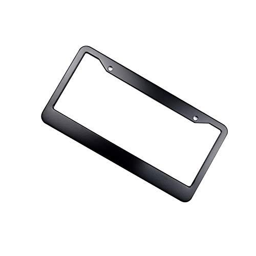 License plate bracket audi Universal Car License Plate Frame Holder Aluminum Alloy Number Plate Bracket Automotive Accessory license plate bracket audi a6 (Color : 2)