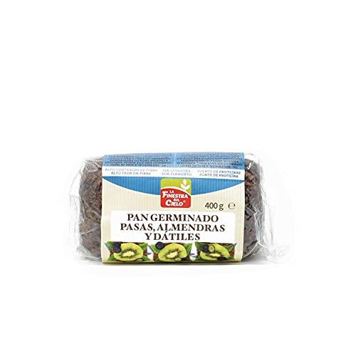 Pan germinado con almendras, pasas y dátiles sin levadura La Finestra Sul Cielo 400 g
