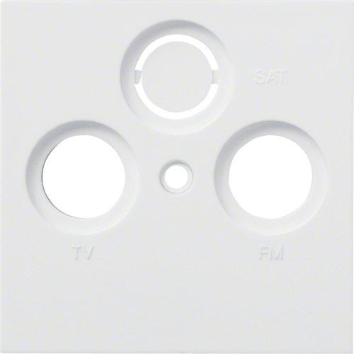 Hager WYA200 TV + Radio Blanco Steckdose (TV + Radio, weiß, Polycarbonat, IP20, 56,5 mm, 7 mm)