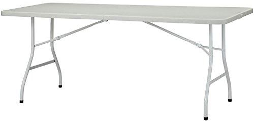 New Storm Table Pliante rectangulaire au Centre Blanc Blanc 180 cm