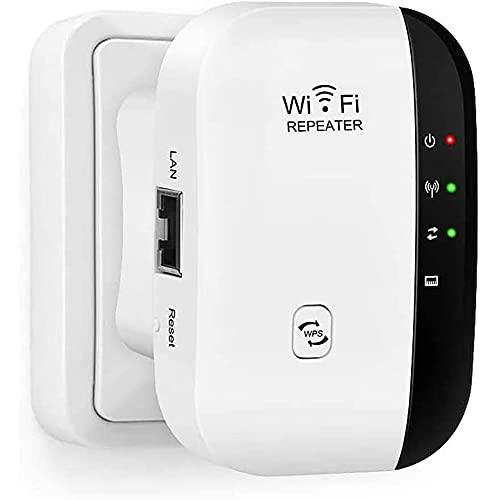 Ripetitore WiFi, 300Mbps WiFi Extender e Access Point Migliora la Tua Copertura Wi-Fi Porta Fast Ethernet, Pulsante WPS, Ripetitore Segnale WiFi Copertura Completa Conforme Router di Segnale