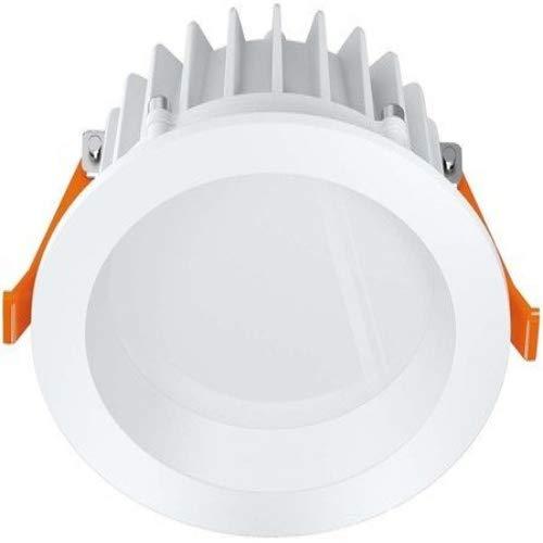 Osram 41194 PUNCTOLED IP65 C WT 10W LED Einbaustrahler weiss 10Watt 600Lumen 90° Abstrahlwinkel dimmbar mit homogener Lichtaustrittsfläche, zum direkten Netzanschluss dank externem inkludiertem Konverter bis zu 50.000h Lebensdauer Abmessungen: 110mm Durchmesser, 43mm Höhe, 95mm Bohrdurchmesser (Deckenausschnitt), 55mm Einbautiefe,