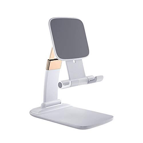 """BeLight Soporte Universal Reforzado Ajustable para Móvil Tablet 4""""-10.4"""" eReaders Multiángulo Diseño de Mesa,Apple (iPhone-iPad) (Blanco)"""