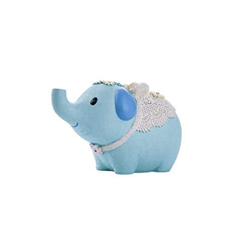 LTCTL huchas Elefante Piggy Bank, Moneda de Monedas, Hucha Creativa, decoración para Regalos de cumpleaños Infantiles (Azul) Caja de Dinero