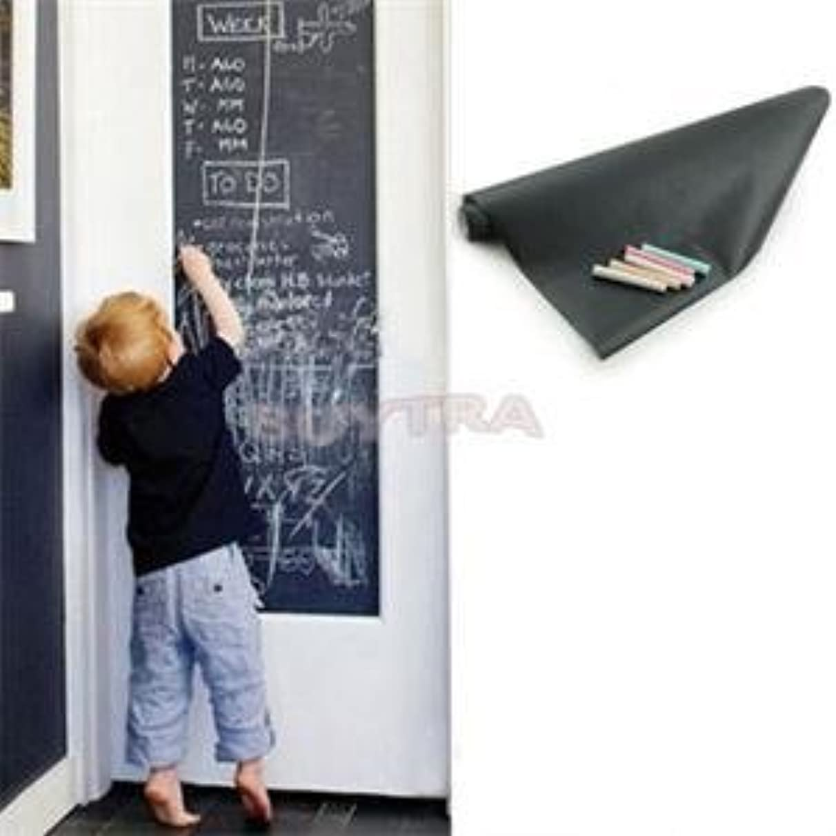 Baguio-Store - 5CMx200CM Chalk Board Blackboard Stickers Removable Vinyl Decor Mural Decals Art Chalkboard Wallpaper Sticker For Rooms