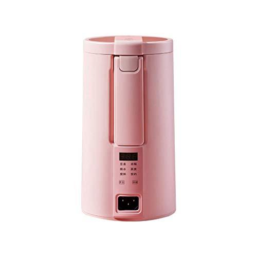 BGSFF Máquina eléctrica de Leche de Soja Mini licuadora Calentador de Leche de Soja y Frijoles licuadora máquina de Pasta de arroz sin Filtro con vaporizador (Color: Rosa)