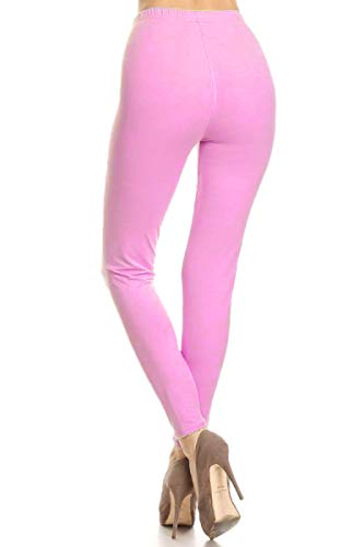 FUNGO Leggings Mujer Largo Deportivas Leggins Yoga Pantalones Para Mujer (40, Rosa)