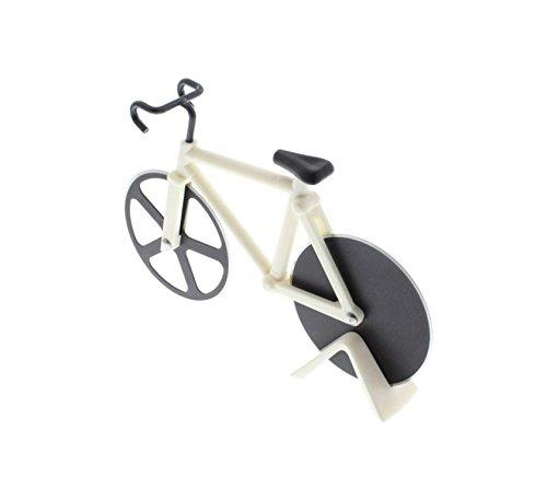 Bike tagliapizza strada bicicletta chopper affettatrice utensile da cucina in acciaio INOX White