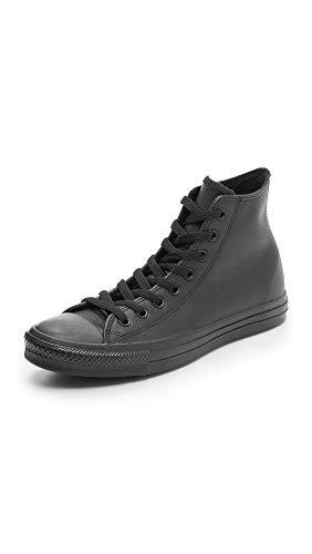 Converse Chuck Taylor All Star Core Lea Hi, Baskets Mixte Adulte, Noir (Black Monochrome), 42.5 EU