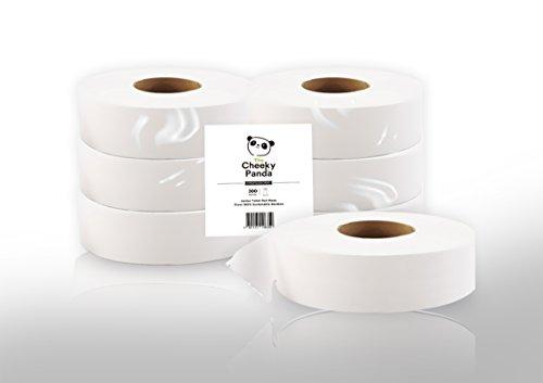 Der freche Panda 0841161106350100% Bambus nachhaltigen natur Luxury Maxi Jumbo WC-Rolle Papier Tissue für Spender, 2-lagig, 300m x 7,6cm (6Stück)