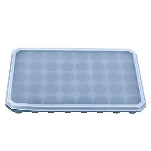 Zhoul - Bandeja para cubitos de hielo de 40 rejillas con tapa extraíble, molde de silicona para cubitos de hielo para hacer cubitos de hielo, moldes para cubitos de hielo para bebidas frías(Verde)
