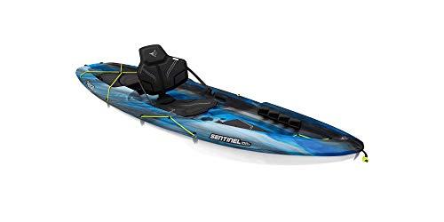Pelican Sit-on-Top Kayak - Sentinel 100X - 9.5 Feet - Lightweight one Person Kayak (EXO Neptune White, Recreational) (MEF10P100-00)