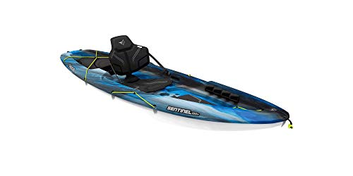 Pelican Sit-on-Top Kayak - Sentinel 100X - 9.5 Feet - Lightweight one Person Kayak
