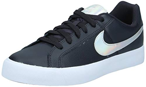 Nike Court Royale AC Donna, Oil Grey Silver Light Cream, 37.5 EU