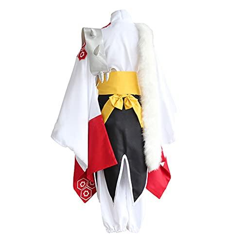 Jilijia Anime Cosplay Kikyō Disfraz de kimono japonés para mujer, con calcetines Tabi, zuecos de madera/peluca de cosplay para disfraces de fiesta de Halloween, Sesshōmaru, L