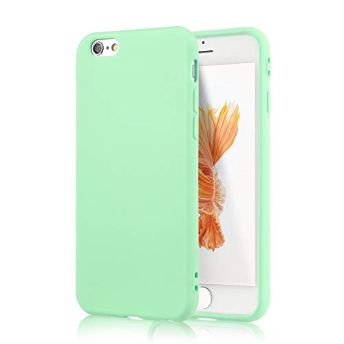 iPhone 6S Mint Case, technext020 Shockproof Ultra Slim Fit Silicone Green TPU Soft Gel Rubber Cover Shock Resistance Protective Back Bumper for iPhone 6 Mint