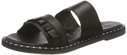 Tamaris Damen 1-1-27105-24 Pantoletten, Schwarz (Black Leather 003), 38 EU