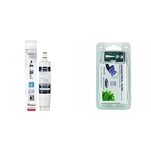 Whirlpool SBS200 Cartucho de filtros de agua para frigoríficos Side by Side + 481248048172 Filtro antibacterias para frigorífico