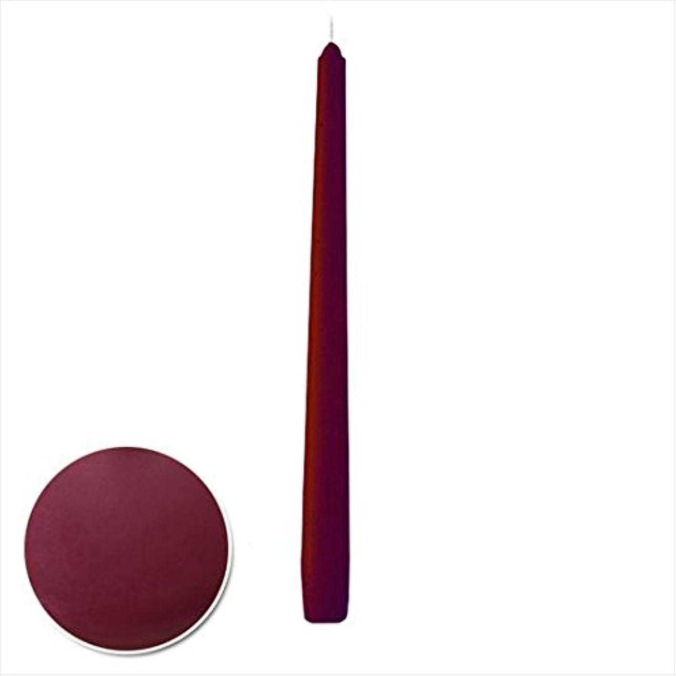 値下げビデオ文句を言うカメヤマキャンドル( kameyama candle ) 12インチテーパー 「 ボルドー 」 12本入り