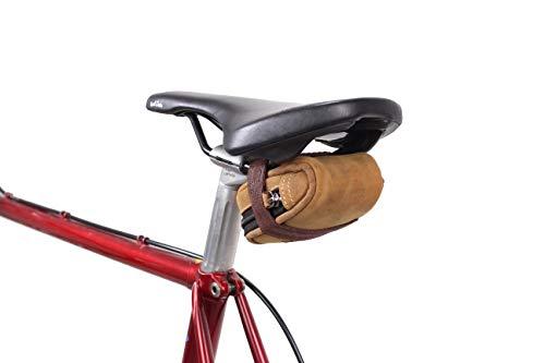Gusti Accessoires Velo - Udo B. Sacoche pour Selle de Vélo Bicyclette Doublure Imperméable Vintage Unisexe Cuir Marron