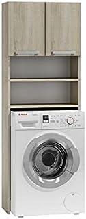 ADGO Pola Armoire pour machine à laver, armoire pour salle de bain, étagère de toilettes, sur-machine à laver, armoire de ...