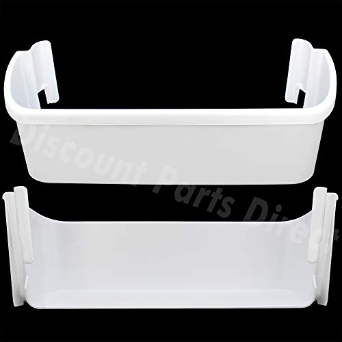 2 Pack 240323001 Refrigerator Replacement Door Bin Side Shelf for Frigidaire Electrolux, Repalce 240323007, 890954, AP2115741, AH429724, EA429724, PS429724-White