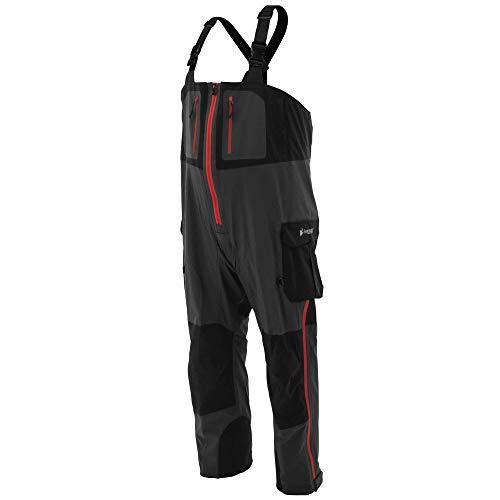 FROGG TOGGS Men's Pilot II Guide Waterproof Breathable Rain Bib, Black/Charcoal, Small (PF83160)
