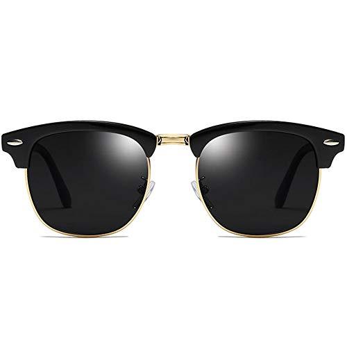 WHSS Gafas de Sol Polarizado clásico Retro Colorido UV400 Gafas de Sol Tendencia Marco Negro Lente Gris Damas Gafas de Sol de conducción de los Hombres