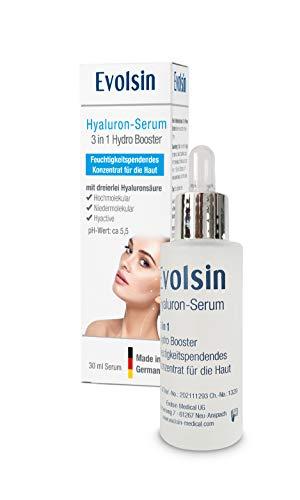 NEU: Evolsin® Hyaluron Serum Creme Gel I Hochwirksame Anti-Aging Formel aus Hyaluronsäure, Panthenol & Kaktusfeigenextrakt I Spendet Feuchtigkeit, lindert Falten & erhöht die Elastizität der Haut