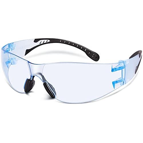 DISON Anti Fog Safety Glasses, Adjustable Protective Eyewear for Men/ Women (Light Blue)