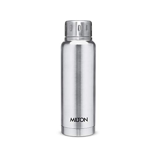 Milton Elfin 300 Thermosteel 24 Hours Hot and Cold Water Bottle, 300 ml, Silver