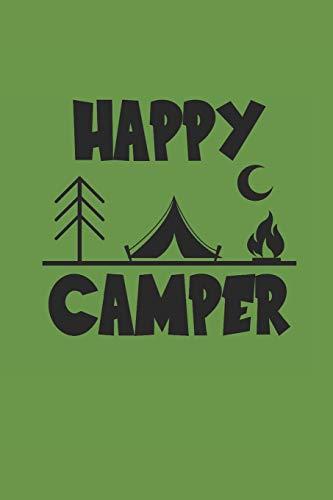 Happy Camper: Camping Outdoor Notebook Camper dotted Notizbuch Planer 6x9 Punkteraster dot grid
